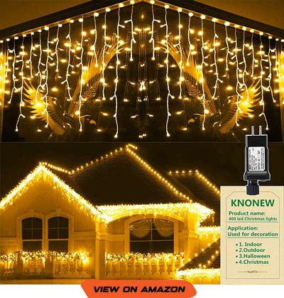 400 LED Icicle LightsChristmasLed Lights