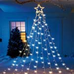 String Light Christmas Tree With Star<br />