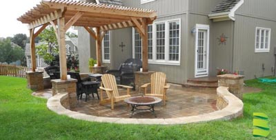 Create Shade with Hardscaping